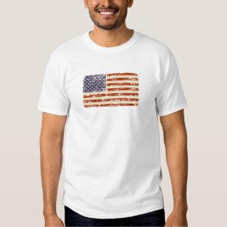 Bandeira americana desvanecida da glória t-shirt