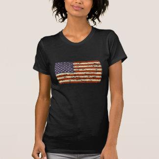 Bandeira americana desvanecida da glória t-shirts