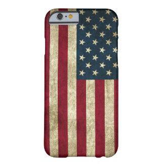 bandeira americana desvanecida e suja capa barely there para iPhone 6