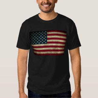 bandeira americana desvanecida e suja t-shirt