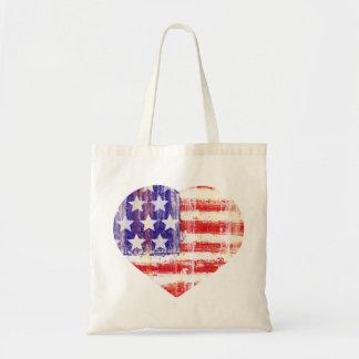 bandeira americana do coração, falg de Estados Uni Bolsa Para Compra