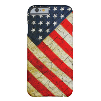 Bandeira americana do Grunge Capa Barely There Para iPhone 6