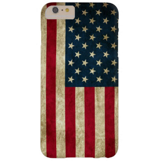 Bandeira americana do Grunge Capas iPhone 6 Plus Barely There