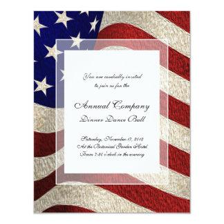Bandeira americana dos E.U. da bandeira dos Convite 10.79 X 13.97cm