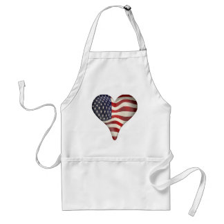 Bandeira americana em um coração avental
