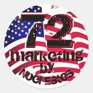 bandeira americana EUA da etiqueta da etiqueta do