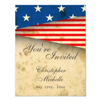 Bandeira americana EUA patrióticos do vintage que Convite 10.79 X 13.97cm