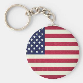 Bandeira americana (Grunged) Chaveiro