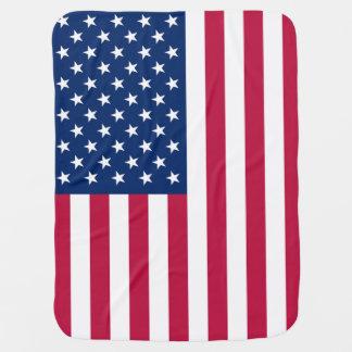 Bandeira americana patriótica cobertorzinhos para bebe