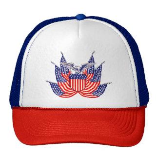 Bandeira americana patriótica do vintage, quarto boné