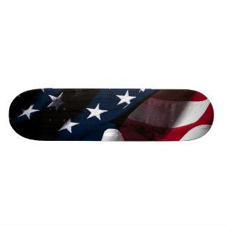 Bandeira americana patriótica shape de skate 20,6cm