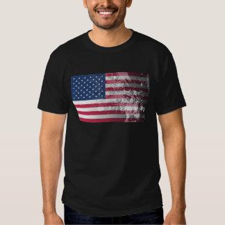 Bandeira americana, patriotismo do grunge dos E.U. T-shirts