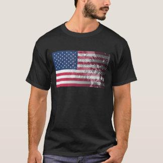 Bandeira americana, patriotismo do grunge dos E.U. Tshirts