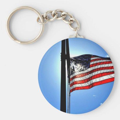 Bandeira americana chaveiros