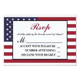 Bandeira americana que Wedding RSVP Convite 8.89 X 12.7cm