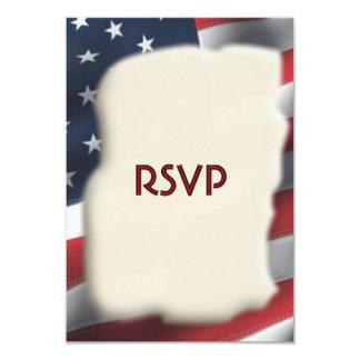 Bandeira americana RSVP Convite 8.89 X 12.7cm