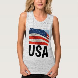 Bandeira americana, t-shirt patrióticos dos EUA