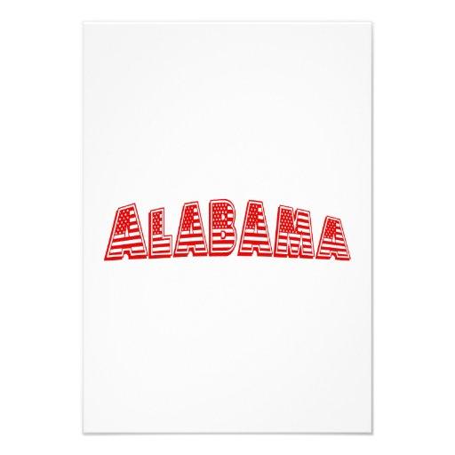 Bandeira americana vermelha Alabama Convite Personalizado