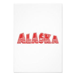 Bandeira americana vermelha Alaska Convite