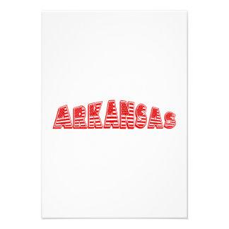 Bandeira americana vermelha Arkansas Convite Personalizados