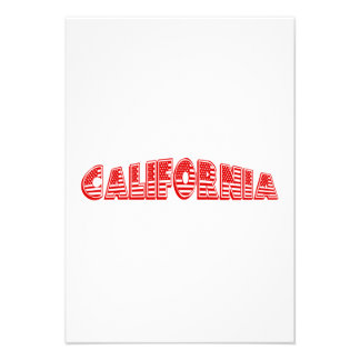Bandeira americana vermelha Califórnia Convites Personalizado