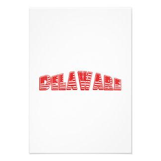 Bandeira americana vermelha Delaware Convites