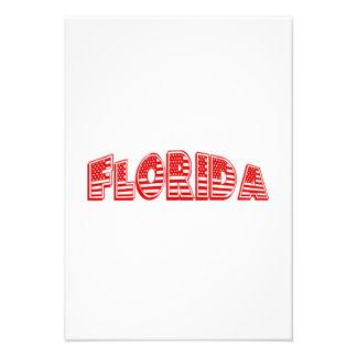 Bandeira americana vermelha Florida Convite Personalizados