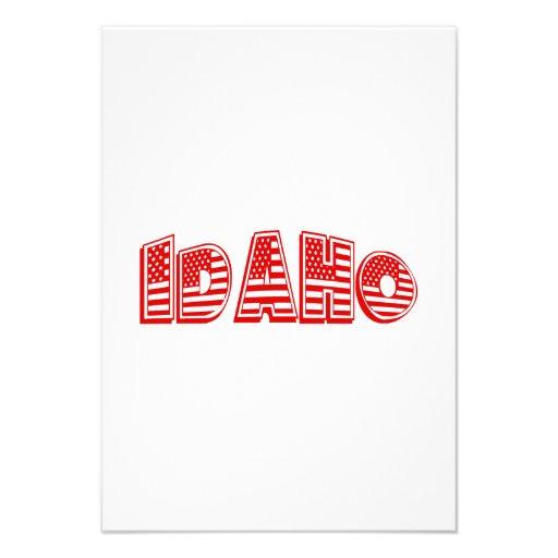Bandeira americana vermelha Idaho Convites