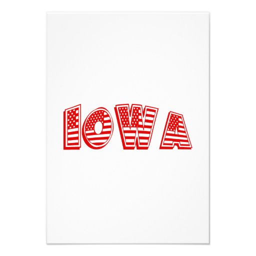 Bandeira americana vermelha Iowa Convites