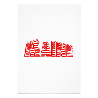 Bandeira americana vermelha Maine Convite