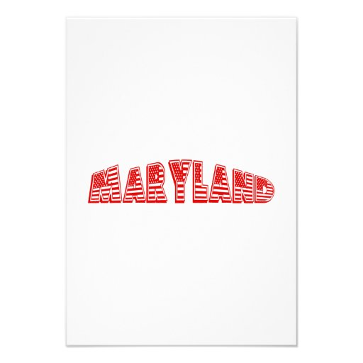 Bandeira americana vermelha Maryland Convite