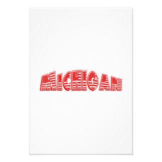 Bandeira americana vermelha Michigan Convites