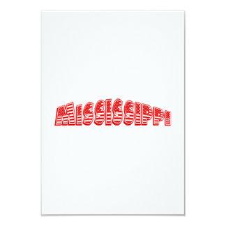 Bandeira americana vermelha Mississippi Convite 8.89 X 12.7cm