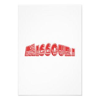 Bandeira americana vermelha Missouri Convites