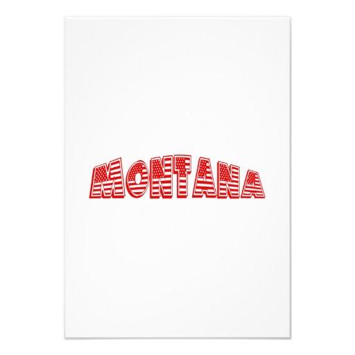 Bandeira americana vermelha Montana Convite Personalizados