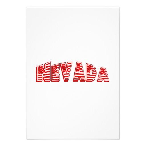 Bandeira americana vermelha Nevada Convites