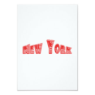 Bandeira americana vermelha New York Convite 8.89 X 12.7cm