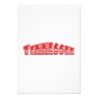 Bandeira americana vermelha Tennessee Convites Personalizado