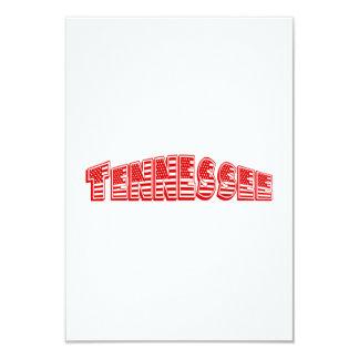 Bandeira americana vermelha Tennessee Convite 8.89 X 12.7cm