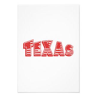 Bandeira americana vermelha Texas Convite Personalizados