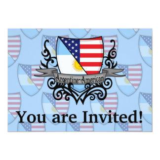 Bandeira Argentina-Americana do protetor Convite 12.7 X 17.78cm