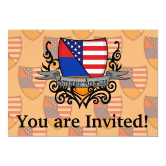 Bandeira Arménio-Americana do protetor Convite 12.7 X 17.78cm