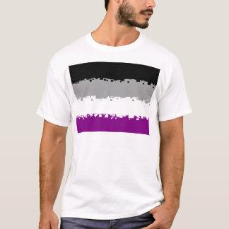 Bandeira assexuada do orgulho de 8 bocados camiseta