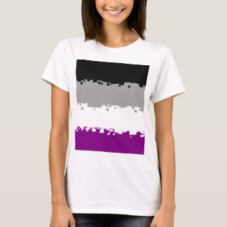 Bandeira assexuada do orgulho de 8 bocados t-shirts