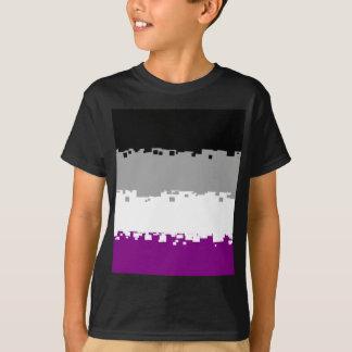 Bandeira assexuada do orgulho de 8 bocados tshirts