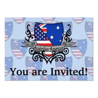 Bandeira Australiano-Americana do protetor Convite 12.7 X 17.78cm
