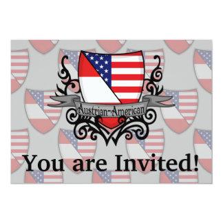 Bandeira Austríaco-Americana do protetor Convite 12.7 X 17.78cm