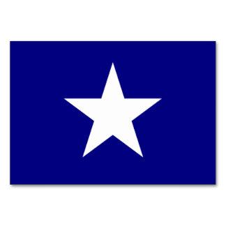 Bandeira azul Bonnie com o cartão branco solitário
