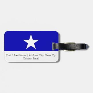 Bandeira azul Bonnie Etiqueta De Bagagem