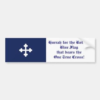 Bandeira azul de Bottony, Hurrah! Adesivo Para Carro